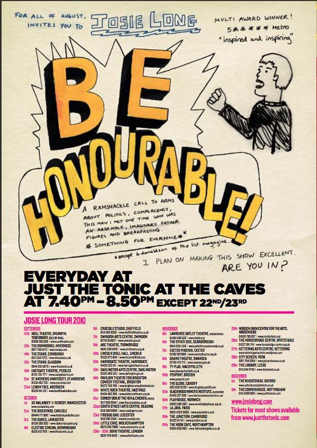 Josie Long – Be Honourable!
