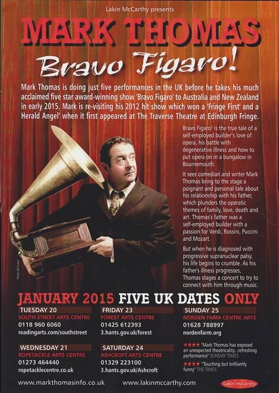 Mark Thomas 'Bravo Figaro' DVD