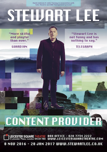 Stewart Lee – Content Provider (UK / Ireland Tour & West End)