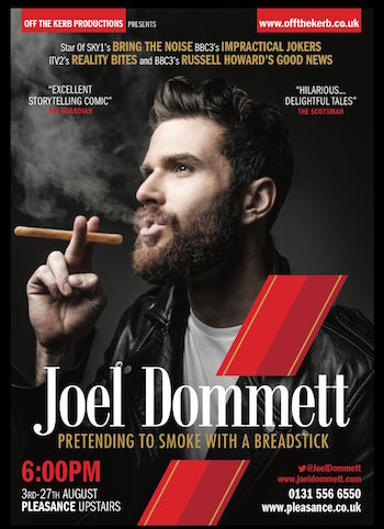 Joel Dommett – Pretending To Smoke With A Breadstick