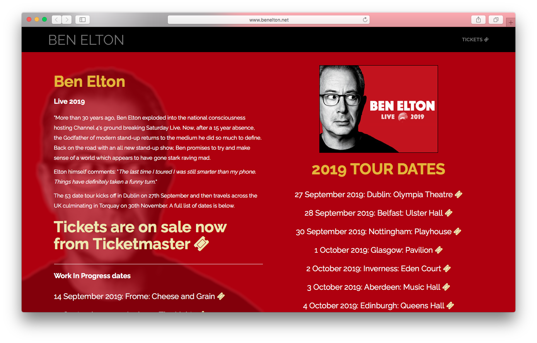 Ben Elton - www.benelton.net