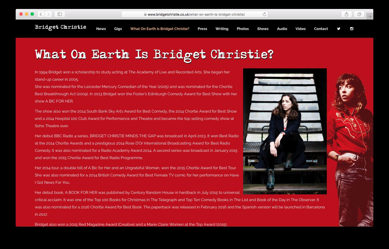 Bridget Christie - www.bridgetchristie.co.uk