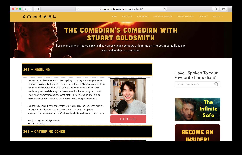 Comedian's Comedian - www.comedianscomedian.com