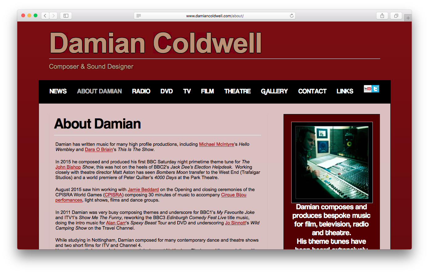 Websites - Damian Coldwell