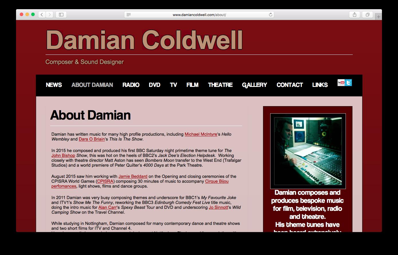 Damian Coldwell - www.damiancoldwell.com