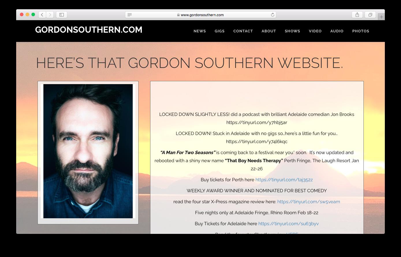 Websites - Gordon Southern