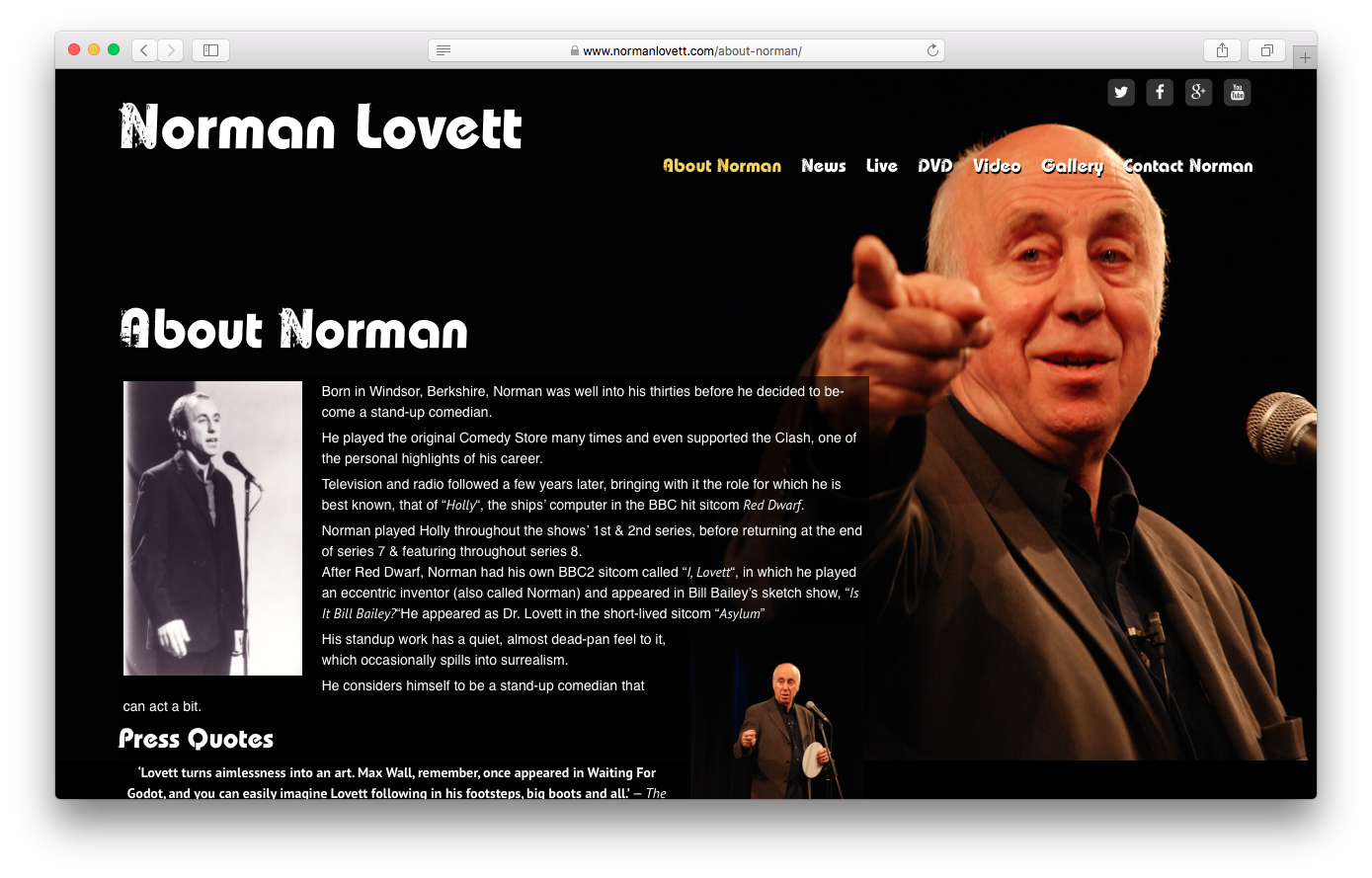 Norman Lovett - www.normanlovett.com