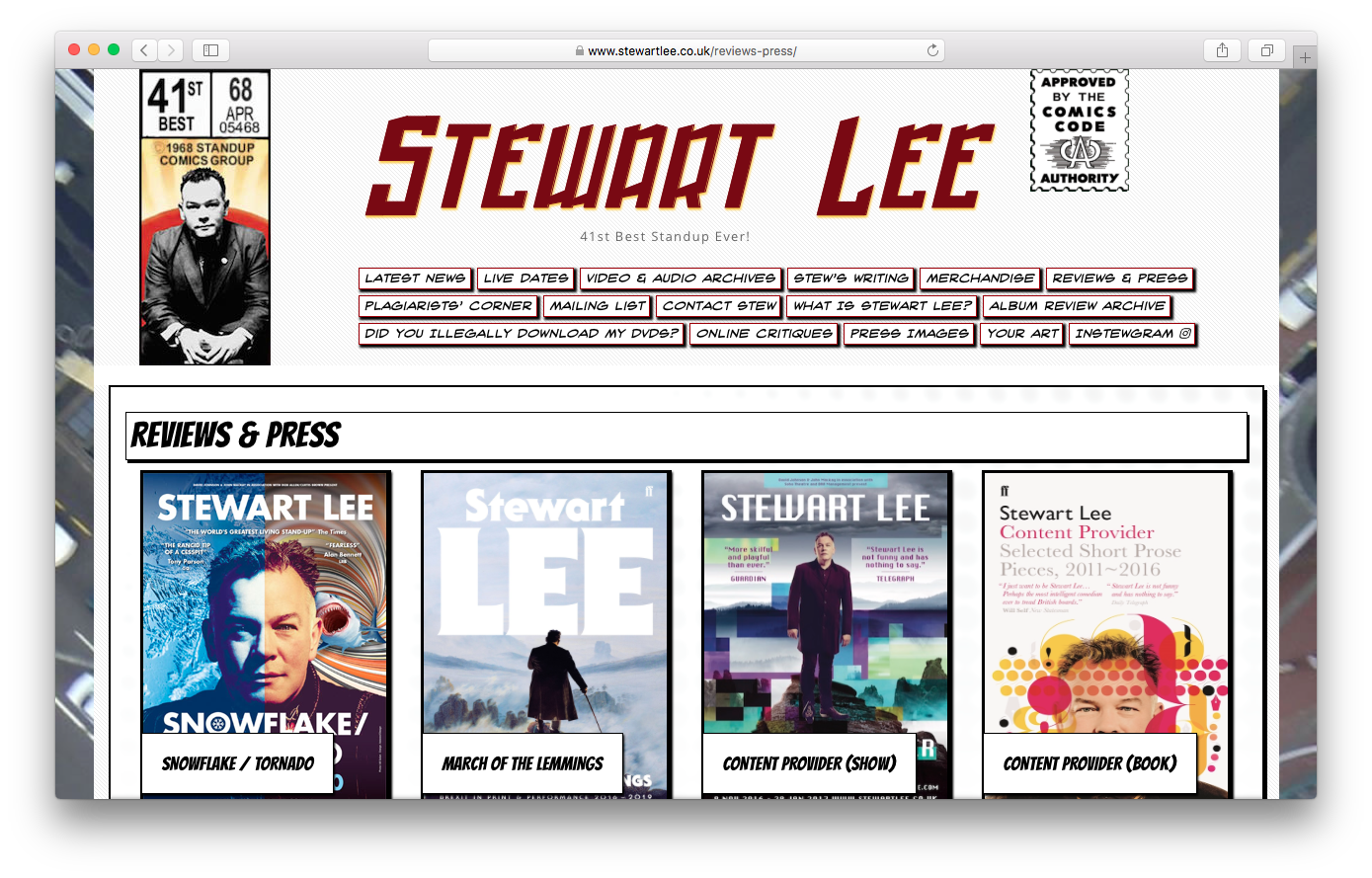 Stewart Lee - www.stewartlee.co.uk